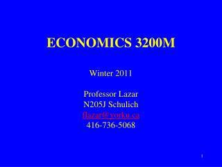 ECONOMICS 3200M