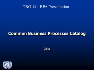 Common Business Processes Catalog