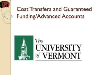 Cost Transfers and Guaranteed Funding/Advanced Accounts