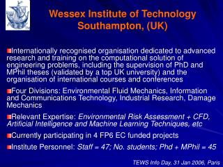 Wessex Institute of Technology Southampton, (UK)