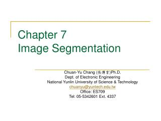 Chapter 7  Image Segmentation
