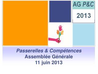 Passerelles & Compétences Assemblée Générale 11 juin 2013