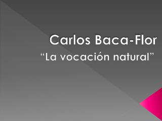 Carlos Baca-Flor