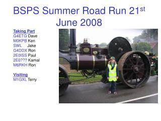BSPS Summer Road Run 21 st  June 2008