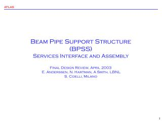 Beam Pipe Support