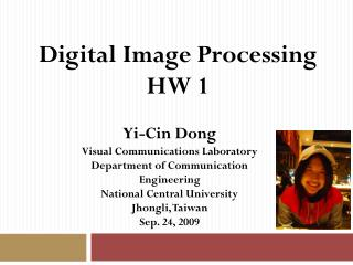Digital Image Processing  HW 1