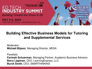 Building Effective Business Models for Tutoring and Supplemental Services
