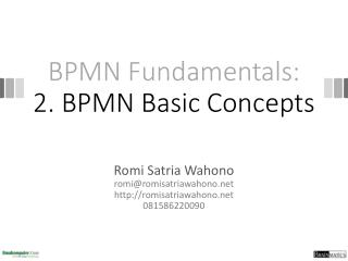 BPMN Fundamentals: 2. BPMN Basic Concepts