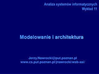 Modelowanie i architektura