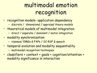 m ultimodal emotion recognition