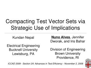 Compacting Test Vector Sets via Strategic Use of Implications