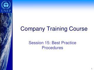 Company Training Course