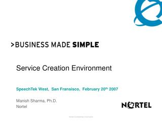 Service Creation Environment