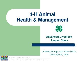 4-H Animal  Health & Management