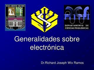 Generalidades sobre electr nica