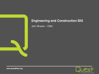 Engineering and Construction SIG