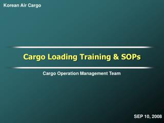 Cargo Operation Management Team