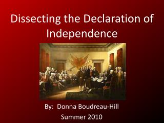 Dissecting the Declaration of Independence