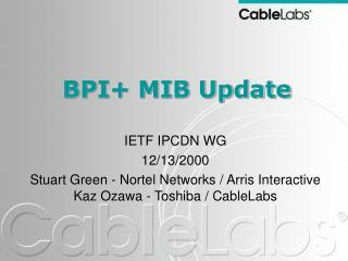 BPI+ MIB Update