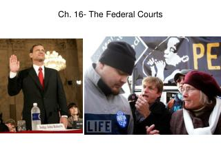 Ch. 16- The Federal Courts
