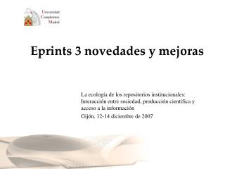 Eprints 3 novedades y mejoras