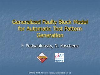 Generalized Faulty Block Model for Automatic Test Pattern Generation