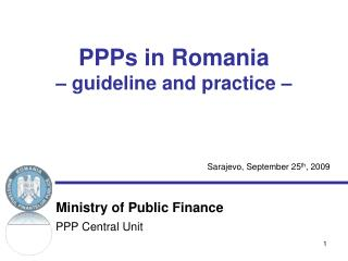 PPPs in Romania   guideline and practice