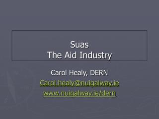 Suas The Aid Industry