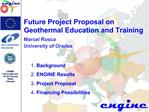 Future Project Proposal on  Geothermal Education and Training