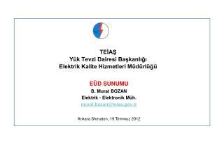 TEİAŞ  Yük Tevzi Dairesi Başkanlığı Elektrik Kalite Hizmetleri Müdürlüğü