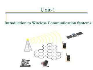 Unit-1 Introduction to Wireless Communication Systems