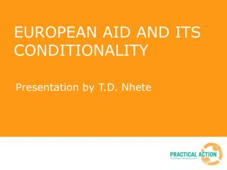 EUROPEAN AID AND ITS CONDITIONALITY