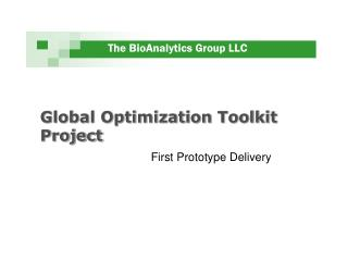 Global Optimization Toolkit Project
