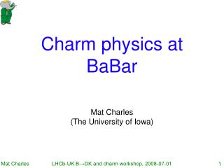 Charm physics at BaBar