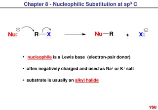 Chapter 8 - Nucleophilic Substitution at sp 3  C