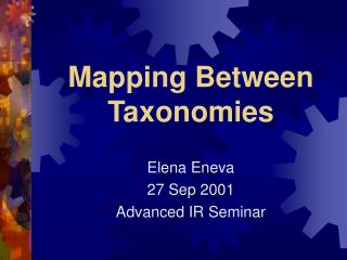 Mapping Between Taxonomies