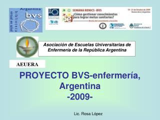 PROYECTO BVS-enfermería, Argentina -2009-
