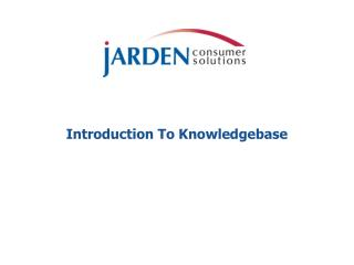 Introduction To Knowledgebase
