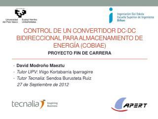 CONTROL DE UN CONVERTIDOR DC-DC BIDIRECCIONAL PARA ALMACENAMIENTO DE ENERG�A (COBIAE)