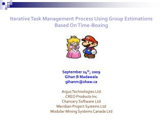 Iterative Task Management Process Using Group Estimations Based On Time-Boxing