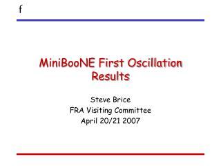 MiniBooNE First Oscillation Results