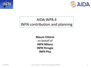 AIDA WP8.4  INFN contribution and planning