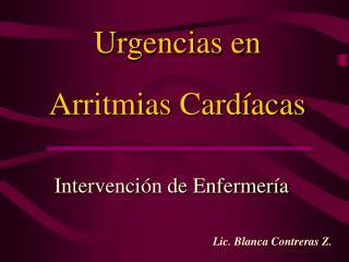 Urgencias en Arritmias Card�acas