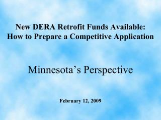New DERA Retrofit Funds Available: How to Prepare a Competitive Application