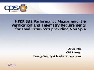 David Kee CPS Energy Energy Supply & Market Operations