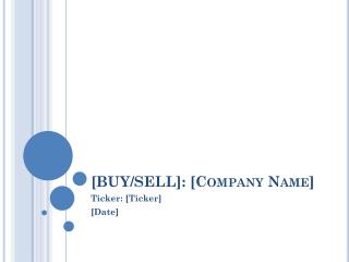 [BUY/SELL]: [Company Name]