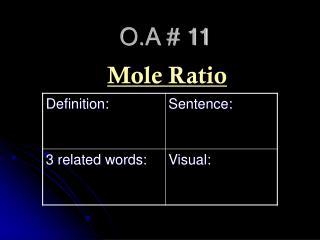 O.A # 11