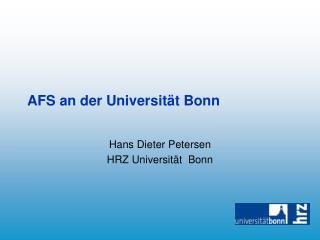 AFS an der Universit�t Bonn