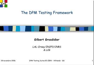 The DPM Testing Framework