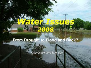 Water Issues 2008
